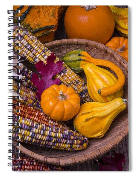 Autumn Harvest Still Life Spiral Notebook