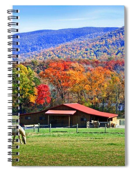 Autumn In Rural Virginia  Spiral Notebook
