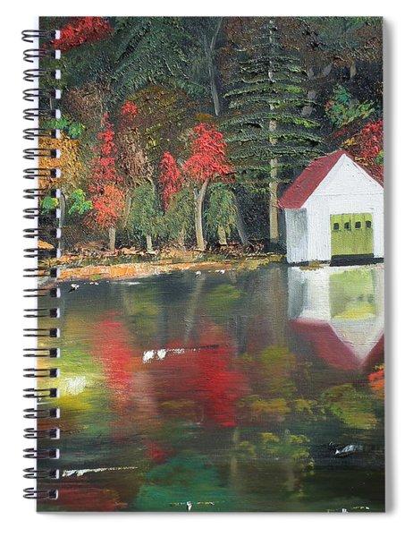 Autumn - Lake - Reflecton Spiral Notebook