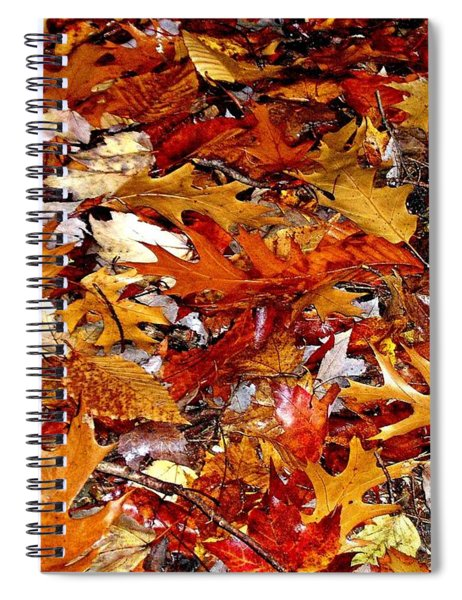Autumn Leaves On The Ground In New Hampshire - Bright Colors Spiral Notebook