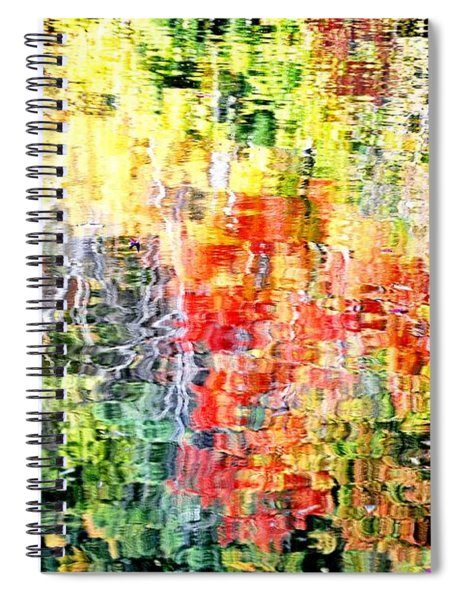 Autumn Leaves Reflected In Pond Surface Spiral Notebook