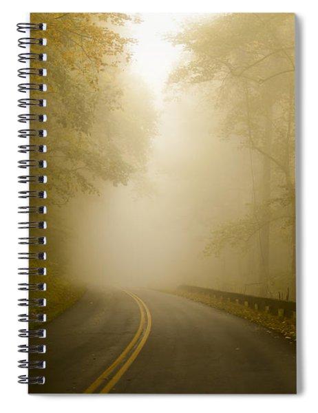Autumn Mist Blue Ridge Parkway Spiral Notebook