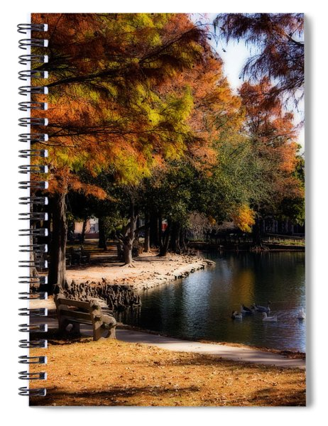 Autumn On Theta Spiral Notebook