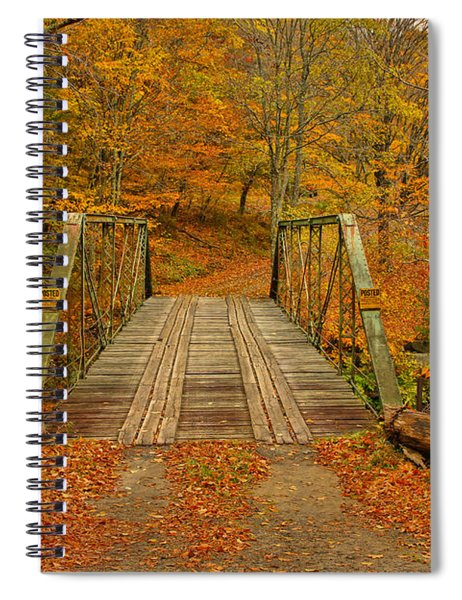 Autumn Orange Colors Spiral Notebook