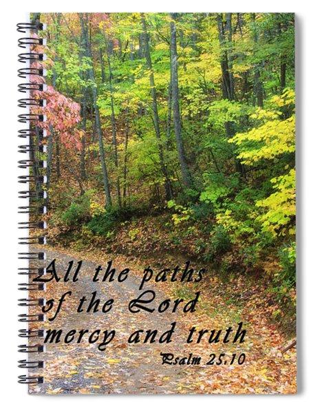Autumn Path With Scripture Spiral Notebook