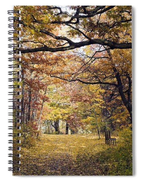 Autumn Pedestrian Path Spiral Notebook