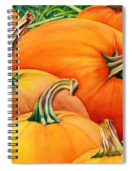 Autumn Pumpkins Spiral Notebook