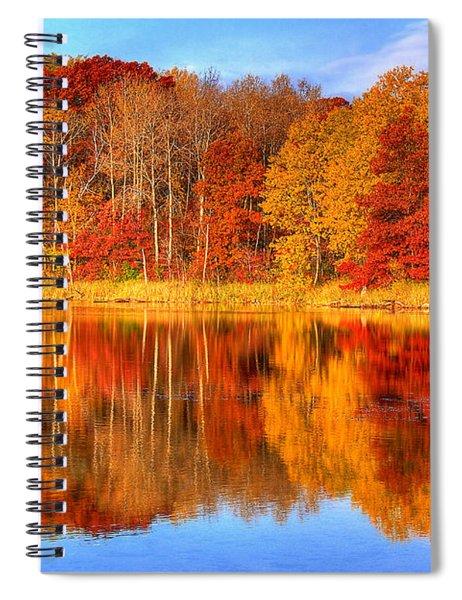 Autumn Reflections Minnesota Autumn Spiral Notebook