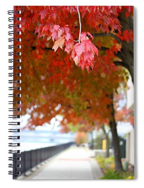 Autumn Sidewalk Spiral Notebook