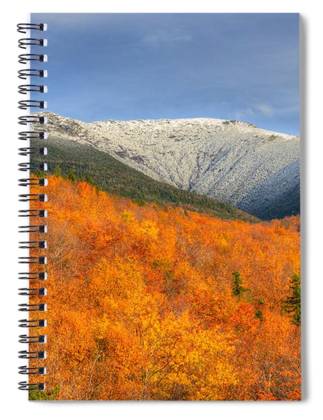 Autumn Snow On Mount Lafayette Spiral Notebook