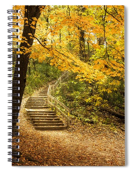 Autumn Stairs Spiral Notebook