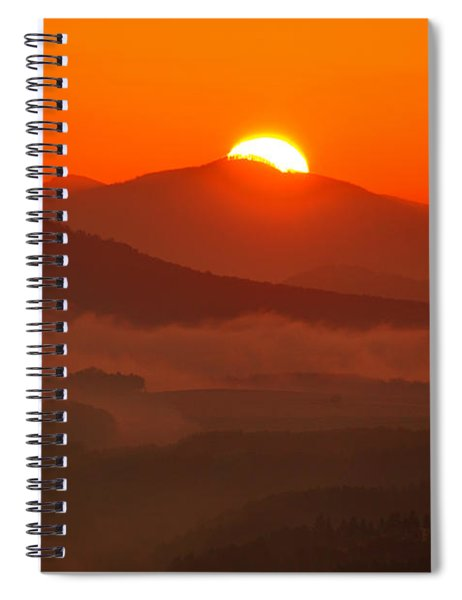 Autumn Sunrise On The Lilienstein Spiral Notebook