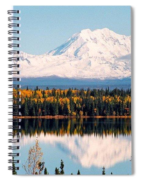 Autumn View Of Mt. Drum - Alaska Spiral Notebook
