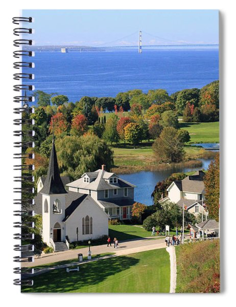 Autumn View On Mackinac Island Spiral Notebook