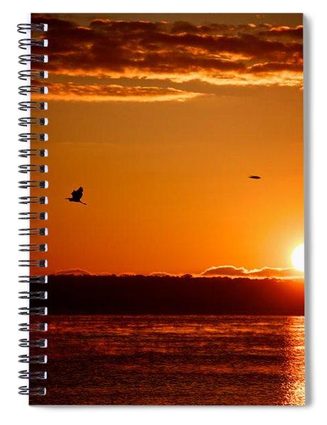 Awakening Sun Spiral Notebook