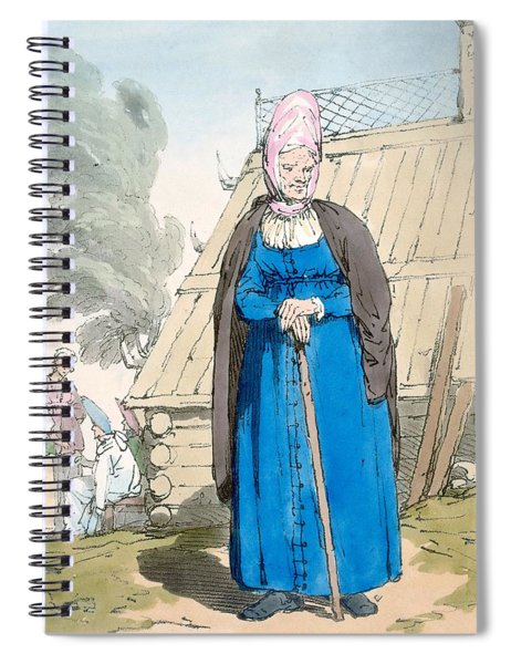 Baba Or Old Woman Spiral Notebook