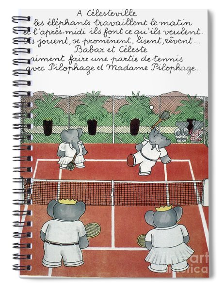 Babar The Elephant, 1930s Spiral Notebook