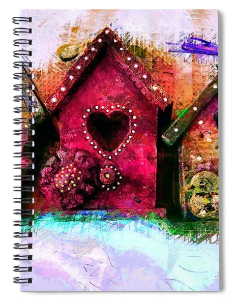 Baby Birdhouses Spiral Notebook