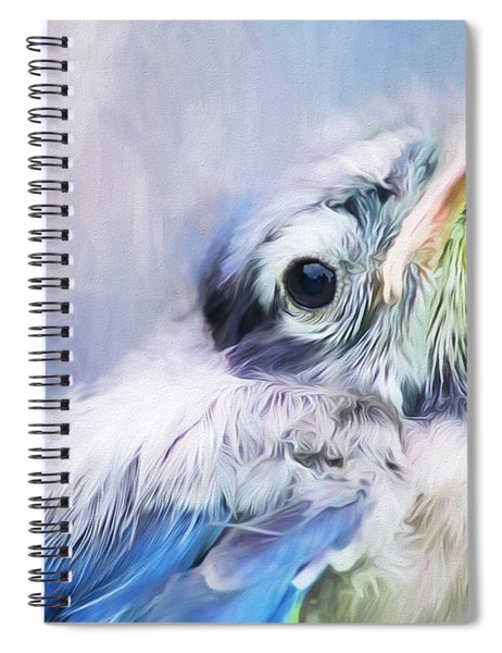 Baby Blue Jay Spiral Notebook