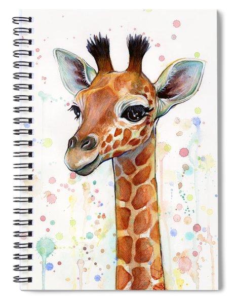 Baby Giraffe Watercolor  Spiral Notebook