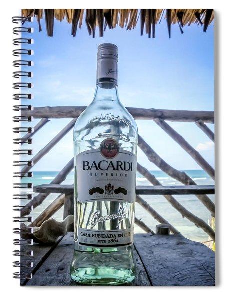 Bacardi And Beach Spiral Notebook