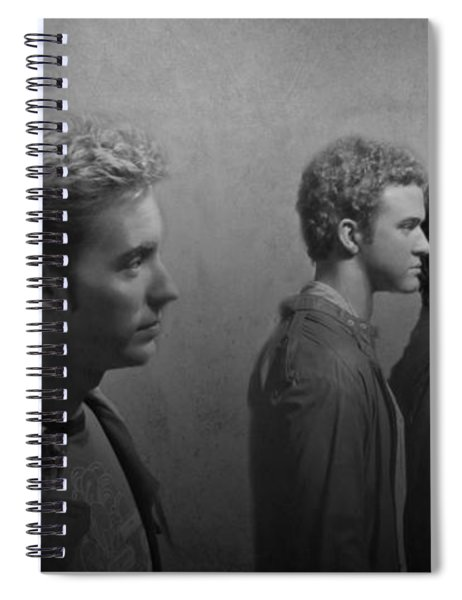 Back Stage With Nsync Bw Spiral Notebook
