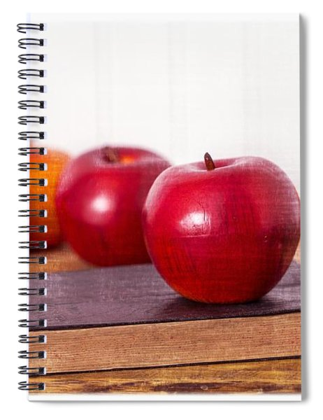 Back To School Apples Spiral Notebook