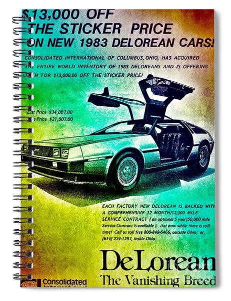 Back To The Delorean Spiral Notebook