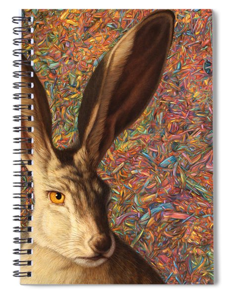 Spiral Notebook featuring the painting Background Noise by James W Johnson