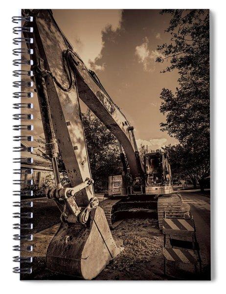 Backhoe-2 Spiral Notebook