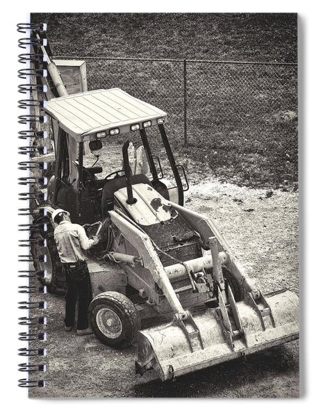 Backhoe Bw Spiral Notebook