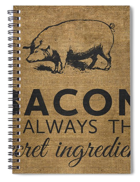 Bacon Is Always The Secret Ingredient Spiral Notebook