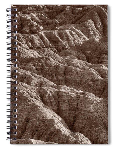 Badlands Light Bw Spiral Notebook