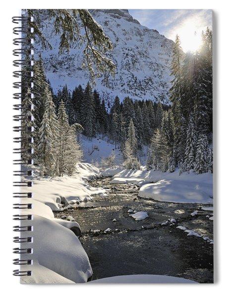 Baergunt Valley Kleinwalsertal Austria In Winter Spiral Notebook
