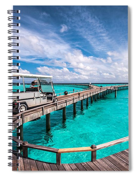 Baggy On The Jetty Over The Blue Lagoon Spiral Notebook