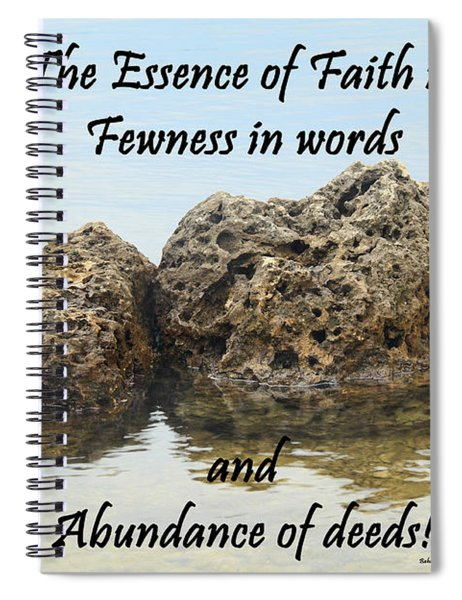Bahai Quote On Rocks Spiral Notebook