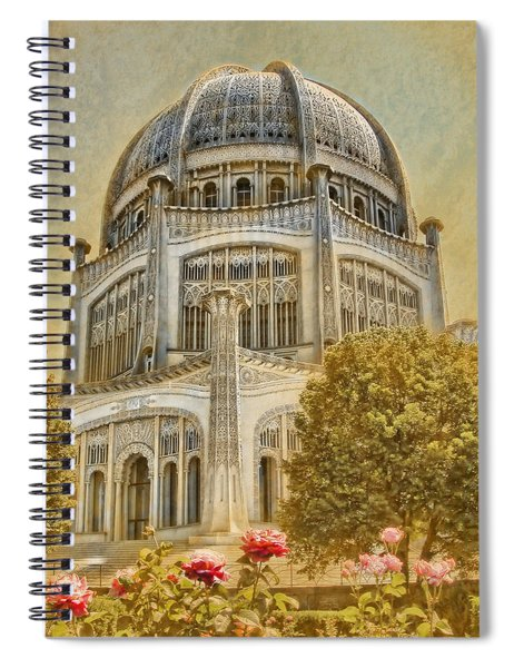 Baha'i  Temple In Wilmette Spiral Notebook
