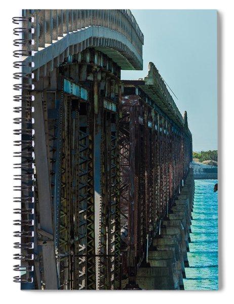 Bahia Honda Bridge Patterns Spiral Notebook