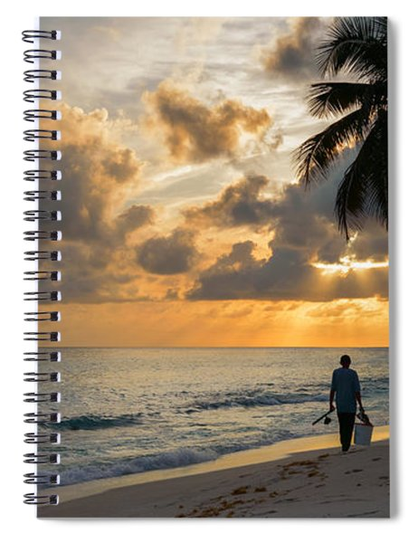 Spiral Notebook featuring the photograph Bajan Fisherman by Garvin Hunter