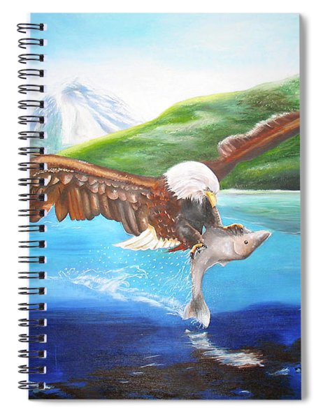 Bald Eagle Having Dinner Spiral Notebook