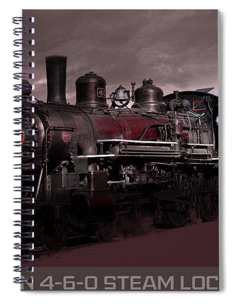 Baldwin 4-6-0 Steam Locomotive Spiral Notebook