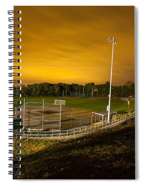 Ball Field At Night Spiral Notebook
