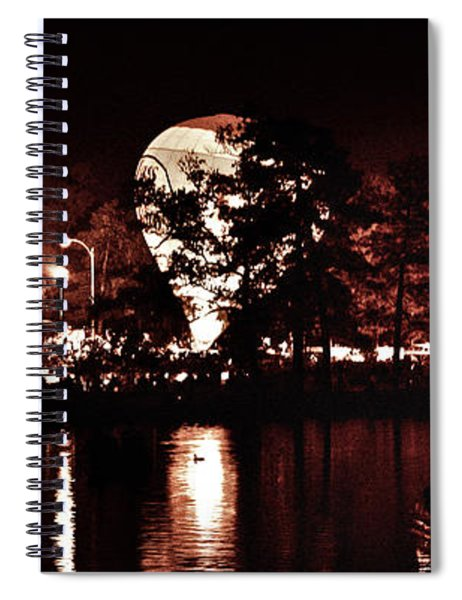 Balloon Glow By Forest Park Lagoon Spiral Notebook