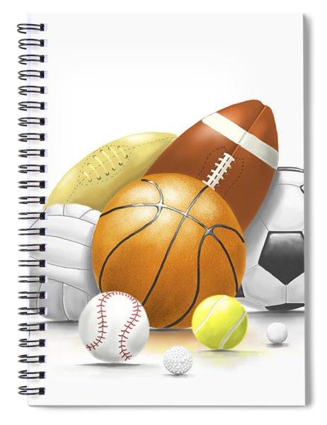 Balls Spiral Notebook