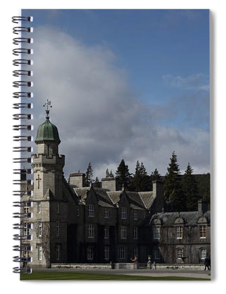 Balmoral Castle In A Closeup Panorama Spiral Notebook