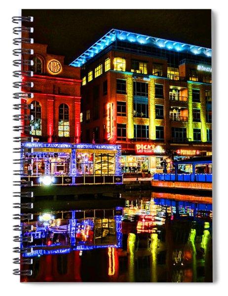 Baltimore Harbor Bridge Walk At Night Spiral Notebook