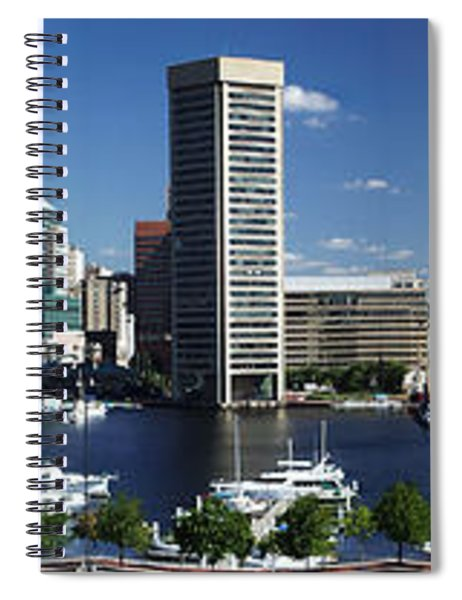 Baltimore Inner Harbor Panorama Spiral Notebook