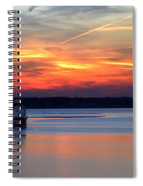 Baltimore Light At Gibson Island Spiral Notebook