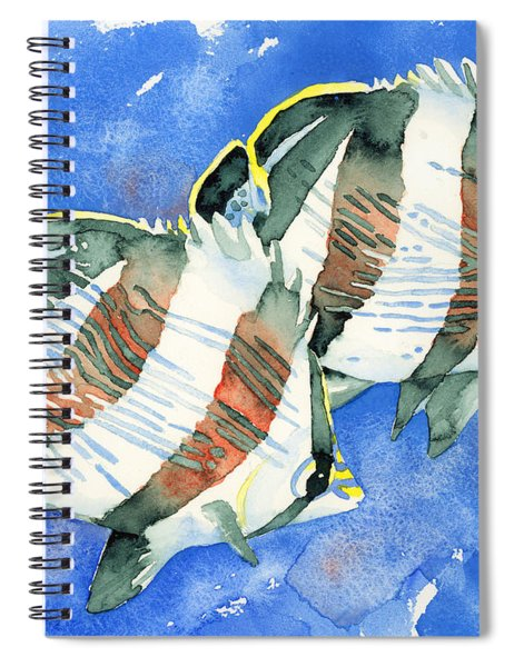 Banded Butterflyfish Spiral Notebook