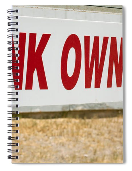 Bank Owned Real Estate Sign Spiral Notebook